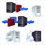 Set ikona serwer royalty ilustracja