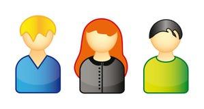 Set Ikonen, die Leute darstellen Stockfotos