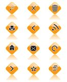 Set Ikonen für Sites, Datenbanksuchroutinen und andere Stockbilder