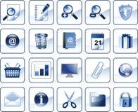 Set Ikonen für Web site Stockfoto