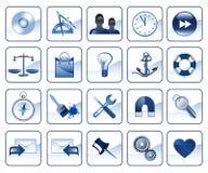 Set Ikonen für Web site Stockfotos