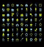 Set Ikonen oder Symbole Lizenzfreies Stockbild