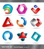 Set Ikonen oder Zeichen stock abbildung