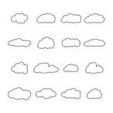 Set ikony chmury, wektorowa ilustracja Zdjęcie Royalty Free