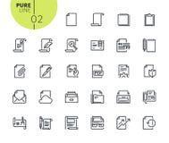 Set ikony dla biurowego obieg royalty ilustracja