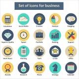 Set ikony dla biznesu w wektorze Obraz Royalty Free