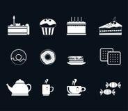 Set ikony dla herbaty royalty ilustracja