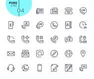 Set ikony dla kontaktu, poparcia i lokaci, royalty ilustracja