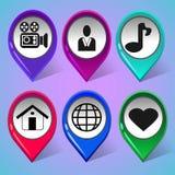Set ikony dla ogólnospołecznej sieci 2 ilustracji
