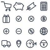 Set ikony dla online sklepu Zdjęcia Royalty Free