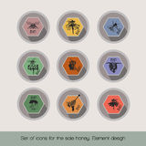 Set ikony dla sprzedaż miodu ilustracji