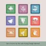 Set ikony dla sprzedaż miodu 2 ilustracji