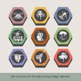 Set ikony dla sprzedaż miodu 6 royalty ilustracja