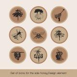 Set ikony dla sprzedaż miodu 3 ilustracja wektor