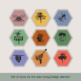Set ikony dla sprzedaż miodu 4 royalty ilustracja