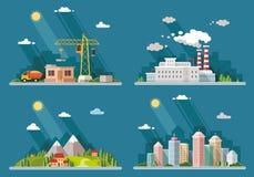 Set ikony dla twój projekta Mieszkanie stylowa wektorowa ilustracja Fotografia Stock