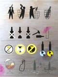 Set ikony dzwoni dla dostawać ono pozbywa się zli przyzwyczajenia Obraz Stock