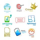Set ikony i symbole Zdjęcie Royalty Free