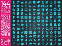 Set ikony, ilości ikony Inkasowy Wektorowy projekt Zdjęcie Royalty Free