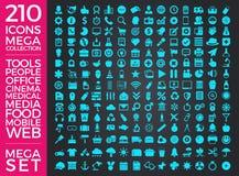 Set ikony, ilości ikony Inkasowy Wektorowy projekt Zdjęcia Stock