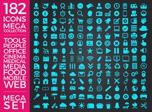 Set ikony, ilości ikony Inkasowy Wektorowy projekt Obraz Royalty Free