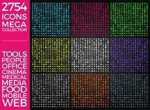 Set ikony, ilości ikony Inkasowy Wektorowy projekt Obrazy Royalty Free