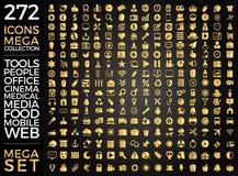 Set ikony, ilości ikony Inkasowy Wektorowy projekt Fotografia Royalty Free