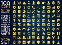 Set ikony, ilości ikony Inkasowy Wektorowy projekt Zdjęcia Royalty Free