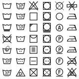 Set ikony na odzieży etykietce. Zdjęcia Royalty Free