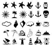 Set ikony o odpoczynku Zdjęcia Stock