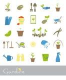 Set ikony ogród Obrazy Stock