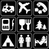 Set ikony (podróż) Fotografia Royalty Free