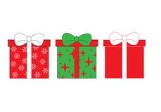 Set ikony prezentów pudełka Zdjęcia Royalty Free