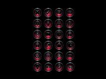 Set ikony: Rewolucjonistka & srebro styl Zdjęcia Stock