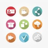 Set ikony - rocznik Zdjęcie Stock
