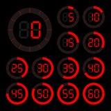 Set ikony stopwatch Zdjęcia Royalty Free