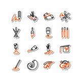 Set ikony - sztuki Zdjęcia Royalty Free
