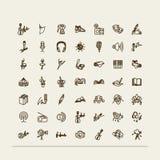 Set ikony - sztuki Zdjęcie Royalty Free