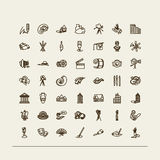 Set ikony - sztuki Zdjęcia Stock