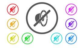 Set ikony w kolorze, ilustracja, mówca Obraz Royalty Free