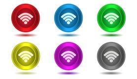Set ikony w kolorze, radio Zdjęcia Royalty Free