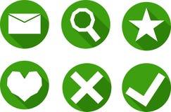 Set ikony w zielonym okręgu, wektor Obraz Royalty Free