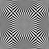 Set of Illusion rays. Vector Illustration. Retro sunburst background. Grunge design element. Black and white backdrop. Good for pi Stock Image