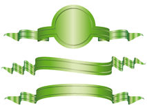 Set of  illustrated bow banners Stock Image