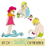 Set of illustrated children Royalty Free Stock Image