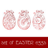 Set of illustrated Easter eggs Royalty Free Stock Photos