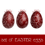 Set of illustrated Easter eggs Stock Photos
