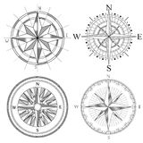 Set illustration of artistic compass. Stock Photo
