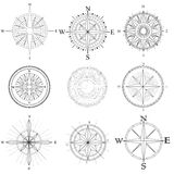 Set illustration of artistic compass. Stock Photos