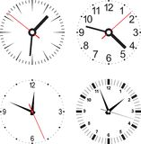 Set  illustration of clock Stock Photos